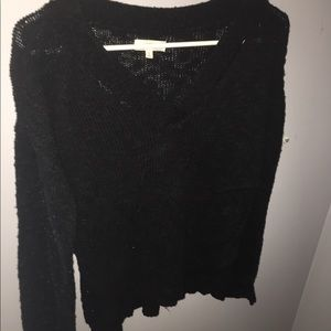 MUDD VNECK SWEATER BLACK